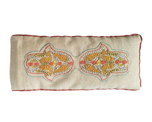 Kanyoga Eye Pillow Hamsa Hand Embroidered Filled With Lavender & Flaxseed- 23 L x 11 W CM
