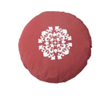Kanyoga Buckwheat Hull Filled Round Zafu Yoga Meditation Cushion- 38 D x 13 H CM