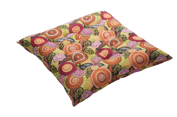 Kanyoga Square Multicolor Exercise Yoga Meditation Cushion/Floor Pillow - 67 L x 67 W x 12 H CM