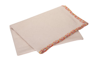 Kanyoga 100% Natural Cotton Yoga Blanket With Floral Print Edging
