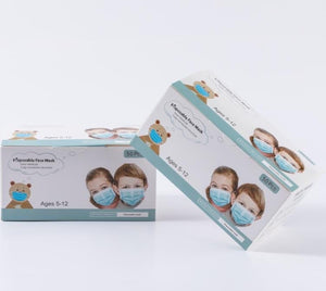 100 Boxes of Kids 3 Ply Masks in Boxes of 50, $0.05/mask