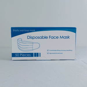 3 Ply Masks Box of 50, $0.06/mask