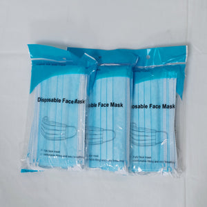 10 Pack - 3 Ply Masks, $0.06/Mask