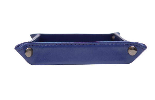 Navy Leather Tray