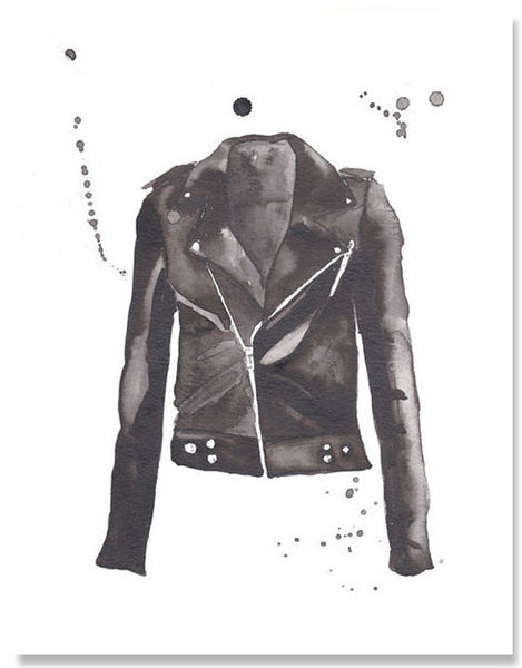 Motorcycle Jacket Print