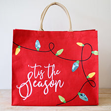 Tis The Season Tote, Tote Bag, Gifts for Teachers, Christmas Totes, Custom Totes