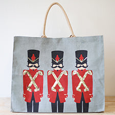 Solider Christmas Tote, Tote Bag, Gifts for Teachers, Christmas Totes, Custom Totes