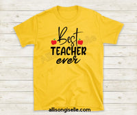 Best Teacher Ever Shirts, Shirt For Teacher, Teacher Shirt, Teacher t shirt, Crew Neck Shirt, Teacher Gifts, Gift For Teacher