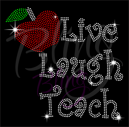 Live Laugh Teach Shirt, Teacher t Shirt, Teacher Shirts, Gift For Teacher, Shirt For Teacher, Teacher Shirt, Crew Neck Shirt, Teacher Gifts