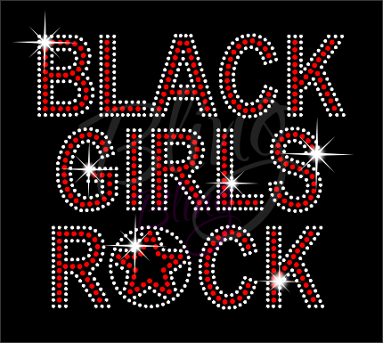 Black Girls Rock Shirt, Crew Neck Shirt, Rhinestone Shirts, Bling Shirts, BLM Shirt