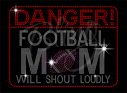 Danger Football Mom Shirt, Football Rhinestone Shirt, Football t shirt, Football Gift, Football Season Shirt, Rhinestone Football Shirt