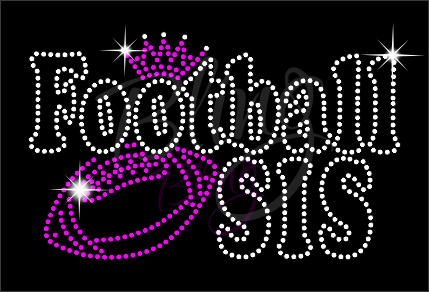 Football Sis Shirt, Football Rhinestone Shirt, Football t shirt, Football Gift, Football Season Shirt, Rhinestone Football Shirt