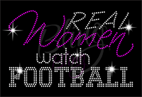 Real Women Watch Football Shirt, Football Rhinestone Shirt, Football t shirt, Football Gift, Football Season Shirt, Rhinestone Football Shirt
