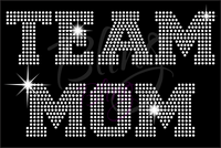 Team Mom Football Shirt, Football Rhinestone Shirt, Football t shirt, Football Gift, Football Season Shirt, Rhinestone Football Shirt
