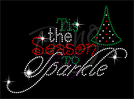 Tis The Season To Sparkle Rhinestone Shirt, Christmas Shirt, Rhinestone Shirts, School Christmas t Shirts, Ugly Sweater