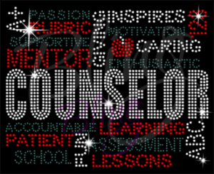 Counselor Word Art Shirt, Counselor Shirt, Rhinestone Shirts, Bling Shirts, Counselor Gifts