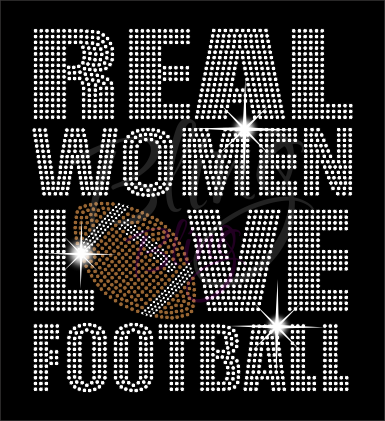 Real Women Love Football Shirt, Football Rhinestone Shirt, Football t shirt, Football Gift, Football Season Shirt, Rhinestone Football Shirt