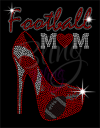 Football Mom Shirt, Football Rhinestone Shirt, Football t shirt, Football Gift, Football Season Shirt, Rhinestone Football Shirt