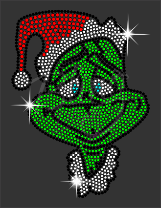 Grinch Rhinestone Shirt, Christmas Shirt, Rhinestone Shirts, School Christmas t Shirts, Ugly Sweater