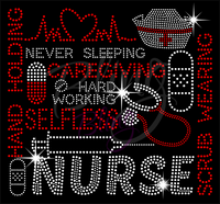 Nurse Words (2) Shirt, Nurse Shirt, Crew Neck Shirt, Rhinestone Shirts, Bling Shirts