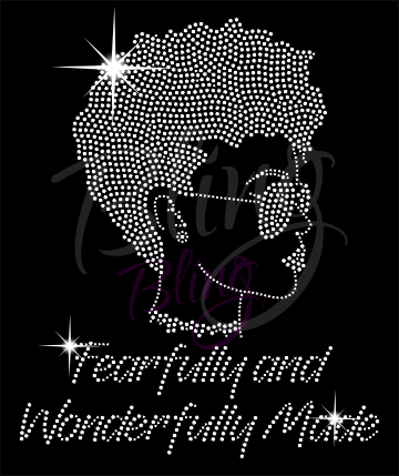 Fearfully and Wonderfully Made Shirt, Crew Neck Shirt, Rhinestone Shirts, Bling Shirts, BLM Shirt