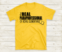 The Real Paraprofessional Shirt, Para Shirt, Teacher Gift