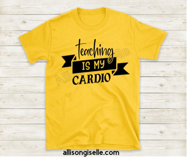 Teaching Is My Cardio Shirts, Shirt For Teacher, Teacher Shirt, Teacher t shirt, Crew Neck Shirt, Teacher Gifts, Gift For Teacher
