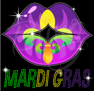 Mardi Gras Lips Shirt, NOLA Shirt, Crew Neck Shirt, Fat Tuesday T Shirt, Happy Mardi Gras Shirt