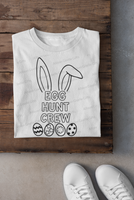 Egg Hunt Crew Shirts, Easter Basket, Coloring Shirts, Easter Kid Shirts