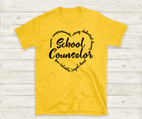 School Counselor Shirt, Counselor Gifts, Counselor T Shirt, Best Counselor Shirt, Crew Neck Shirts,