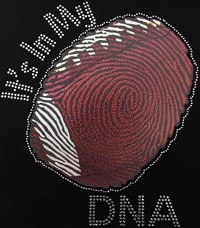It's In My DNA Football Shirt, Football Shirt, Football Rhinestone Shirt , Football t shirt, Football Gift, Football Season Shirt
