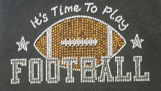 Football Shirt, Football Rhinestone Shirt , Football t shirt, Football Gift, Football Season Shirt
