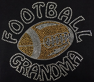Football Grandma Shirt, Football Shirt, Football Rhinestone Shirt , Football t shirt, Football Gift, Football Season Shirt