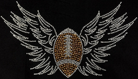 Football With Wings Shirt, Football Shirt, Football Rhinestone Shirt , Football t shirt, Football Gift, Football Season Shirt