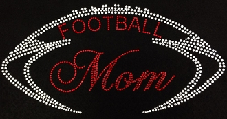 Football Mom Shirt, Football Shirt, Football Rhinestone Shirt , Football t shirt, Football Gift, Football Season Shirt