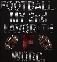 Football Shirt, Football Rhinestone Shirt, Football t shirt, Football Gift, Football Season Shirt