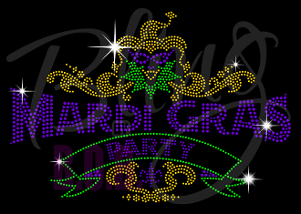 Mardi Gras Party Shirt, NOLA Shirt, Crew Neck Shirt, Fat Tuesday T Shirt, Happy Mardi Gras Shirt