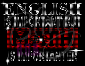 English Is Important But Math Is Importanter Shirt, Teacher t Shirt, Teacher Shirts, Gift For Teacher, Shirt For Teacher, Teacher Shirt, Crew Neck Shirt, Teacher Gifts