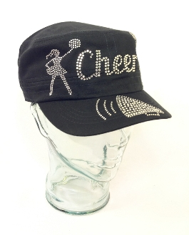 Cheer Rhinestone Hat, Cheer Hat, Rhinestone Hat, Embroidered Hats, Rhinestone Cap, Hats, Caps