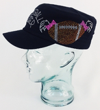Football Sister Rhinestone Hat, Football Hat, Rhinestone Hat, Embroidered Hats, Rhinestone Cap, Hats, Caps