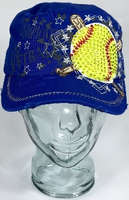 Softball Diamond Hat, Softball Hat, Rhinestone Hat, Embroidered Hats, Rhinestone Cap, Hats, Caps