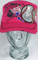 Baseball Wings Hat, Baseball Hat, Rhinestone Hat, Embroidered Hats, Rhinestone Cap, Hats, Caps