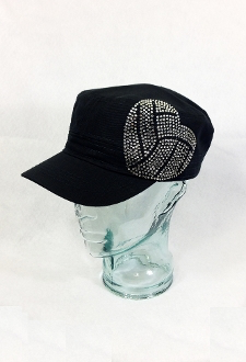 Volleyball Heart Rhinestone Hat, Volleyball Hat, Rhinestone Hat, Embroidered Hats, Rhinestone Cap, Hats, Caps