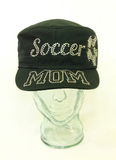 Soccer Mom Rhinestone Hat, Soccer Hat, Rhinestone Hat, Embroidered Hats, Rhinestone Cap, Hats, Caps