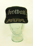Football Mom Rhinestone Hat, Football Hat, Rhinestone Hat, Embroidered Hats, Rhinestone Cap, Hats, Caps