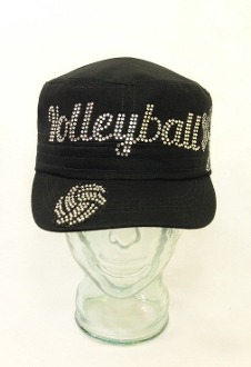 Volleyball Rhinestone Hat, Volleyball Hat, Rhinestone Hat, Embroidered Hats, Rhinestone Cap, Hats, Caps