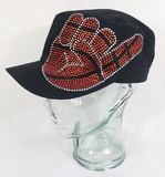 Basketball Hand Patch Rhinestone Hat, Basketball Hat, Rhinestone Hat, Embroidered Hats, Rhinestone Cap, Hats, Caps