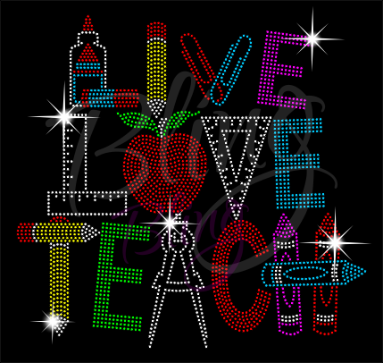Live Love Teach Shirt, Teacher t Shirt, Teacher Shirts, Gift For Teacher, Shirt For Teacher, Teacher Shirt, Crew Neck Shirt, Teacher Gifts