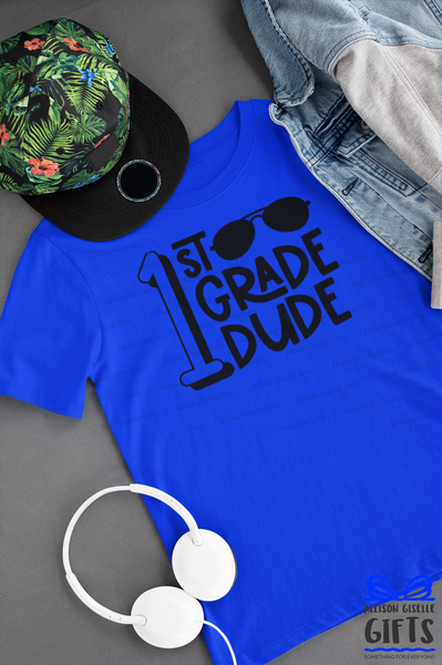 1st Grade Dude Shirt -1st Grade Boy Shirt - Personalized 1st Grade Shirt - Back To School Shirt - Personalized 1st Grade t shirt