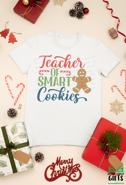 Teacher of Smart Cookies Christmas Shirt, Christmas Shirt, Christmas Shirt, Holiday T Shirt, Teacher Christmas Gift